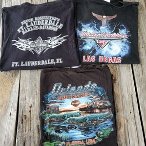 Harley Davidson 3 TShirt Lot 3x and 2xl